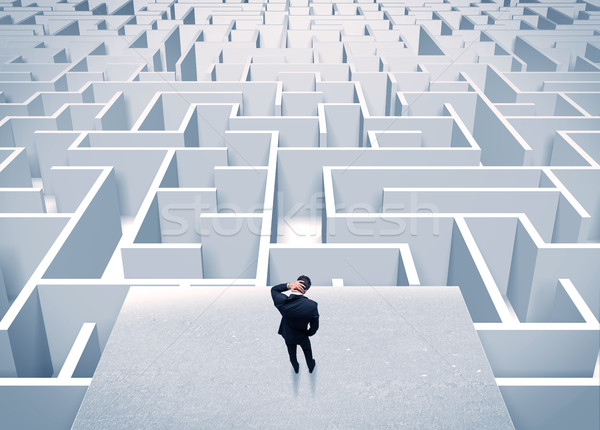 Imprenditore infinito labirinto elegante piedi Foto d'archivio © ra2studio