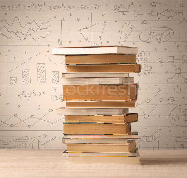 Libros matemáticas fórmulas escrito garabato Foto stock © ra2studio
