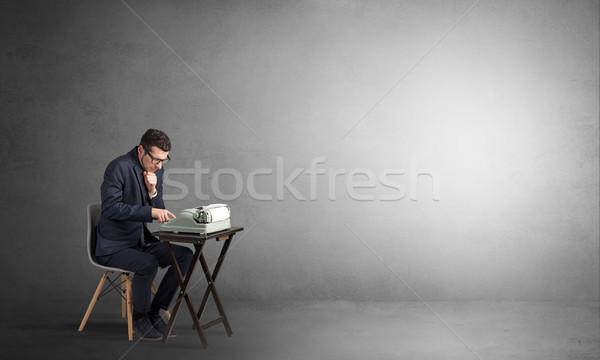 человека рабочих машинку работу бизнесмен Сток-фото © ra2studio