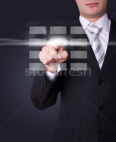 Homem digital botões mão teclado Foto stock © ra2studio