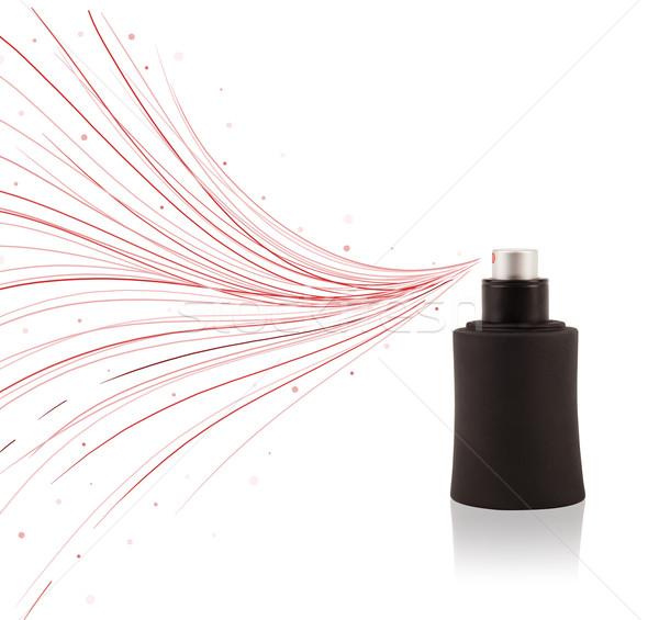Foto stock: Perfume · botella · colorido · líneas · regalo
