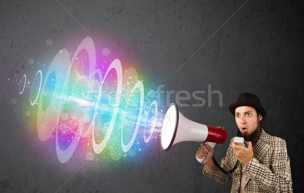 человека красочный энергии луч из Сток-фото © ra2studio