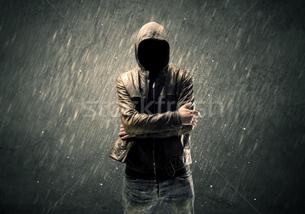男 立って 認識できない 犯罪者 ストックフォト © ra2studio