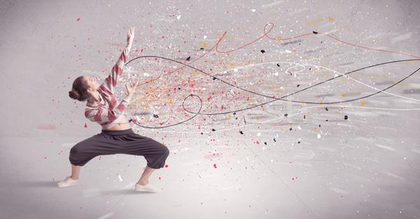Urbano dança linhas agitar-se jovem contemporâneo Foto stock © ra2studio