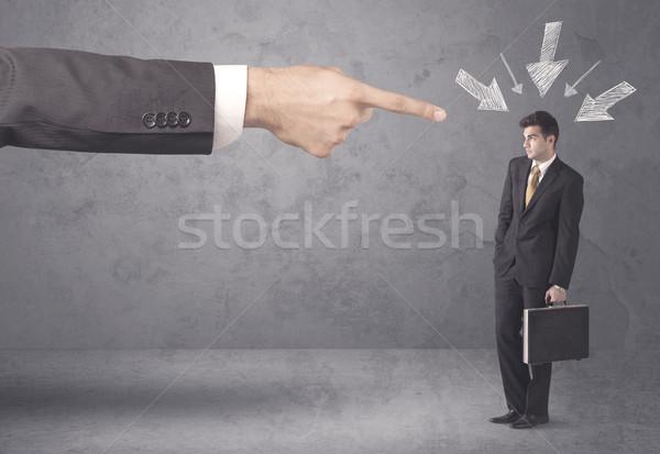 Stockfoto: Amateur · zakenman · druk · kantoor · baas · jonge