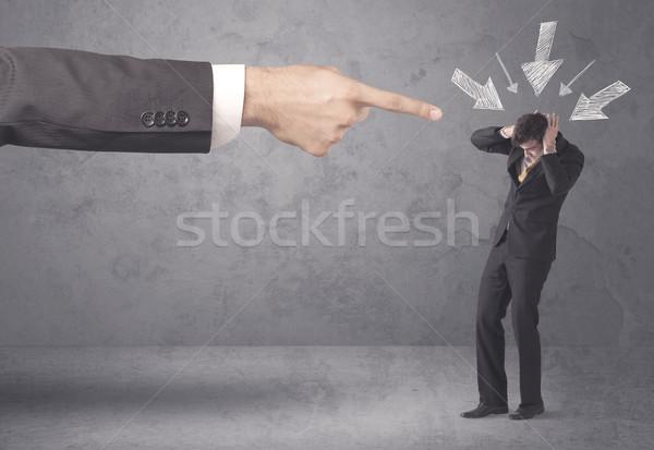 Amatőr üzletember nyomás iroda főnök fiatal Stock fotó © ra2studio