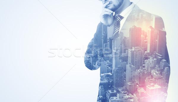 男 立って 黒 前方後円墳 戻る ビジネスマン ストックフォト © ra2studio
