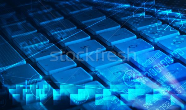 клавиатура программированию работу ноутбука Сток-фото © ra2studio