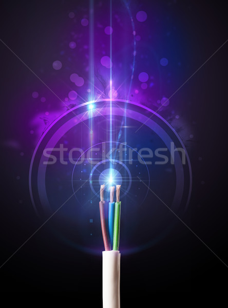 Glowing electric cable Stock photo © ra2studio