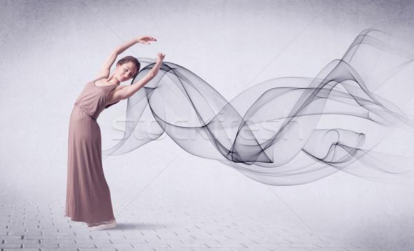 Moderno bailarino abstrato redemoinho moda Foto stock © ra2studio
