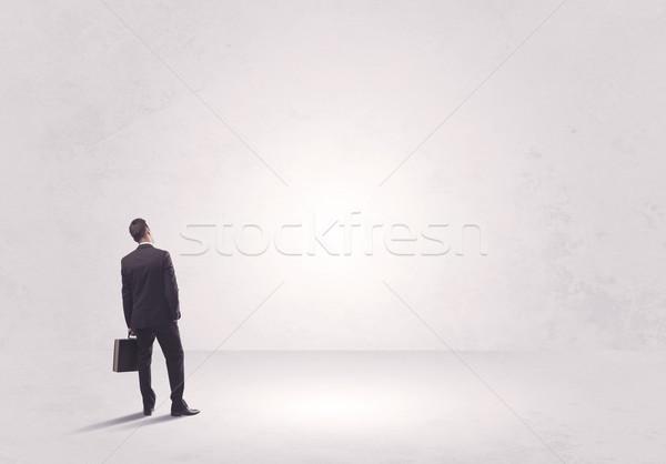 Финансы работник Постоянный ничего элегантный Сток-фото © ra2studio