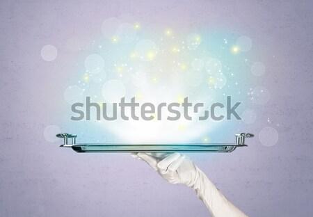 明るい ライト トレイ ウェイター グリッター ストックフォト © ra2studio