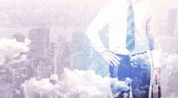 ビジネスマン 立って 市 ビジネス 空 ストックフォト © ra2studio