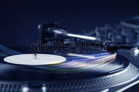 Music player jogar vinil música colorido abstrato Foto stock © ra2studio