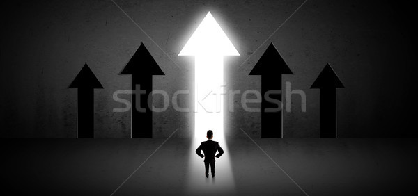 Businessman choosing the right way Stock photo © ra2studio