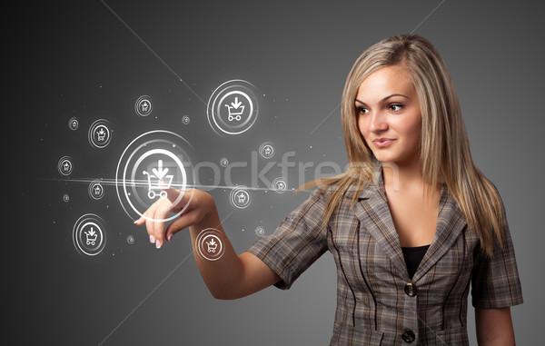 деловая женщина поощрения судоходства тип современных Сток-фото © ra2studio