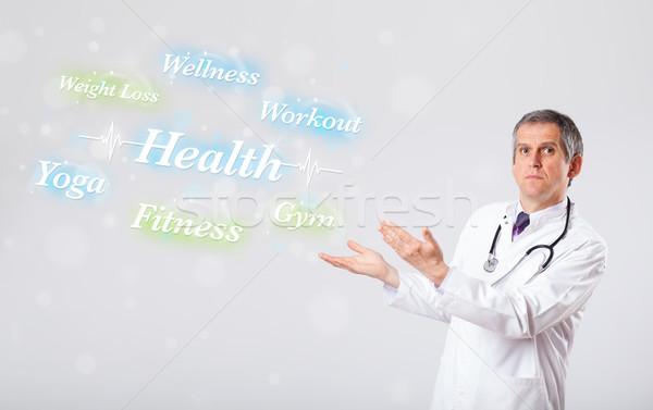 臨床の 医師 ポインティング 健康 フィットネス コレクション ストックフォト © ra2studio