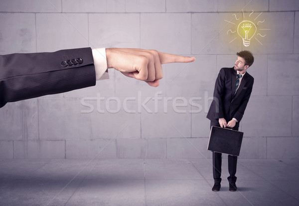 Boss blaming sales person with an idea Stock photo © ra2studio