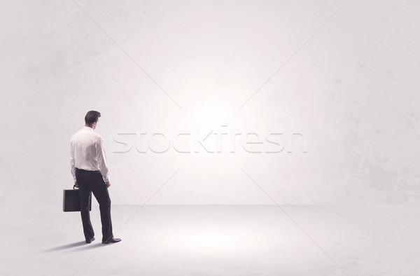 Finance worker standing in pure nothing Stock photo © ra2studio