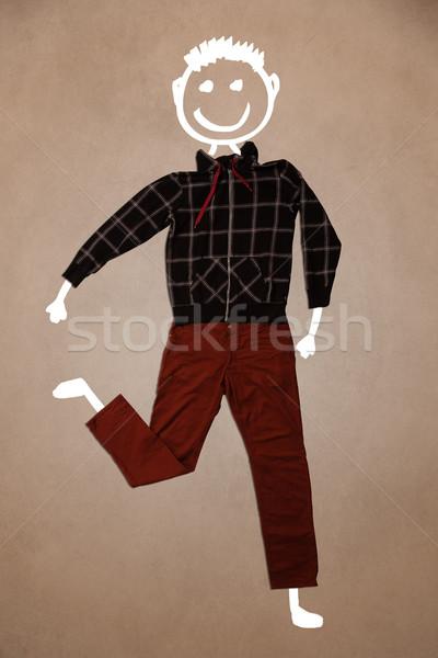 Toevallig kleding grappig karakter Stockfoto © ra2studio