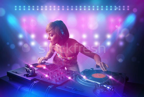 ディスクジョッキー 音楽 ターン ステージ ライト かなり ストックフォト © ra2studio