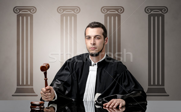 Young judge making decision Stock photo © ra2studio