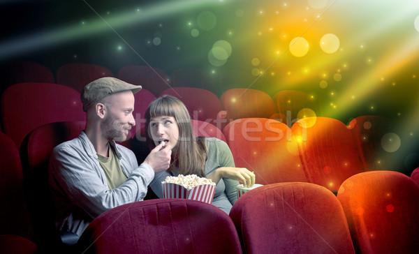 Couple watching something miraculous Stock photo © ra2studio
