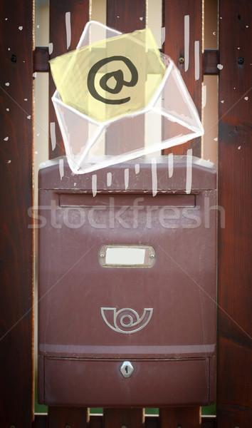 Envelop e-mail teken mailbox witte papier Stockfoto © ra2studio