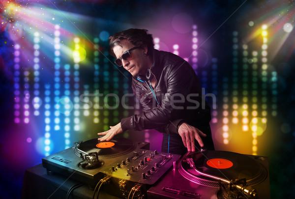 Játszik diszkó fény előadás fiatal buli Stock fotó © ra2studio
