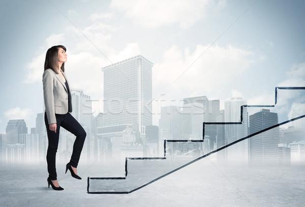 事業者 階段 市 ビジネス 空 オフィス ストックフォト © ra2studio