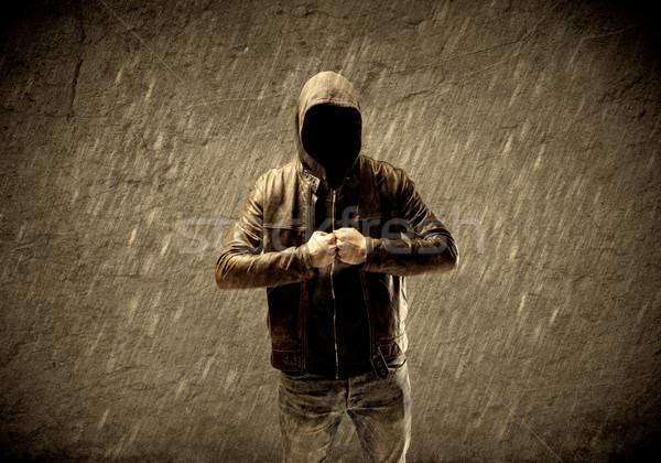 ストックフォト: 不明 · 都市 · フーリガン · 奇妙な · 疑わしい · ハッカー