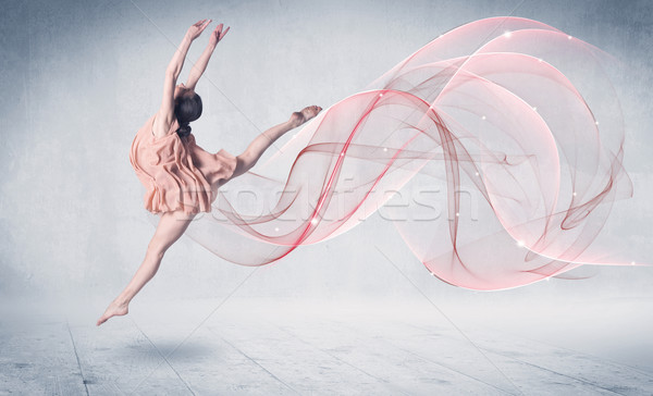 Dansen ballet prestaties kunstenaar abstract swirl Stockfoto © ra2studio