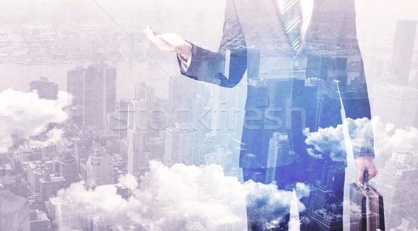 ビジネスマン 立って 市 ビジネス 作業 ストックフォト © ra2studio
