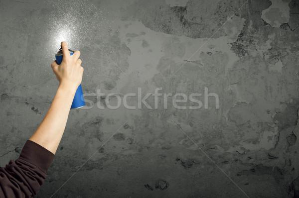 Urban painter starting to draw Stock photo © ra2studio