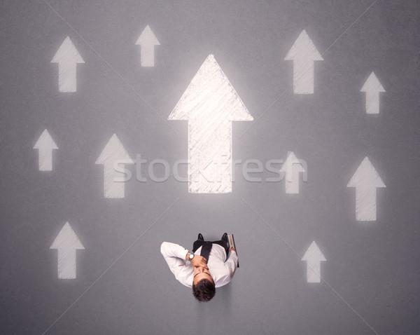 ビジネスマン 決定 小さな 白 ストックフォト © ra2studio
