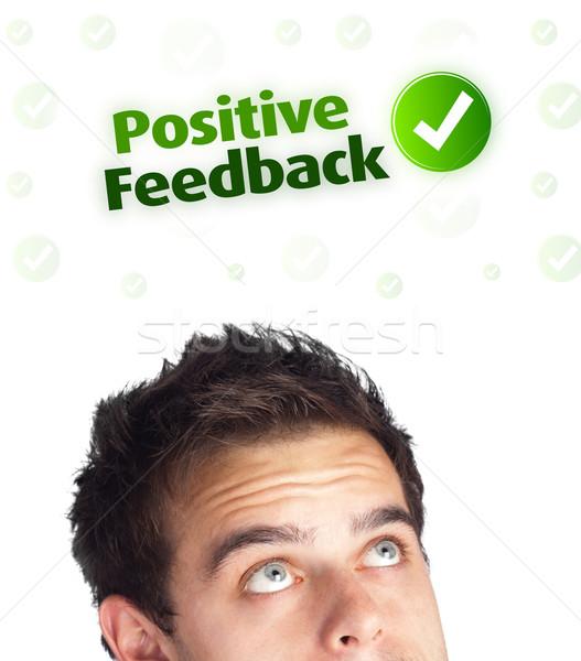Сток-фото: молодые · голову · глядя · положительный · негативных · признаков