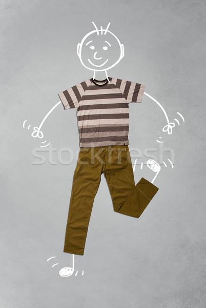 Cute grappig toevallig kleding Stockfoto © ra2studio