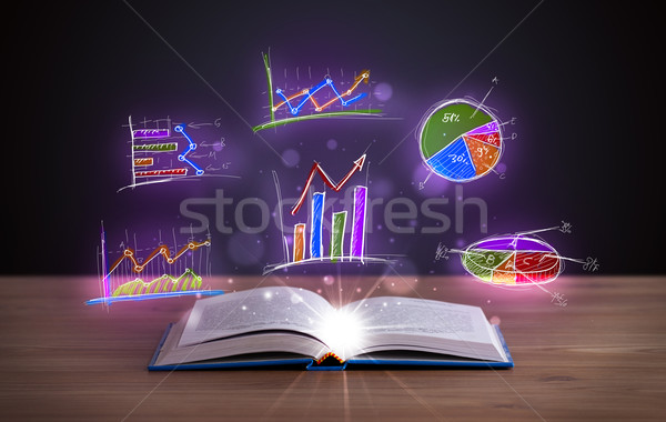 Zdjęcia stock: Książki · pokład · wykres