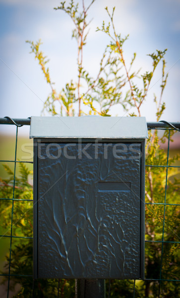 Cloes up of a mailbox on the street Stock photo © ra2studio