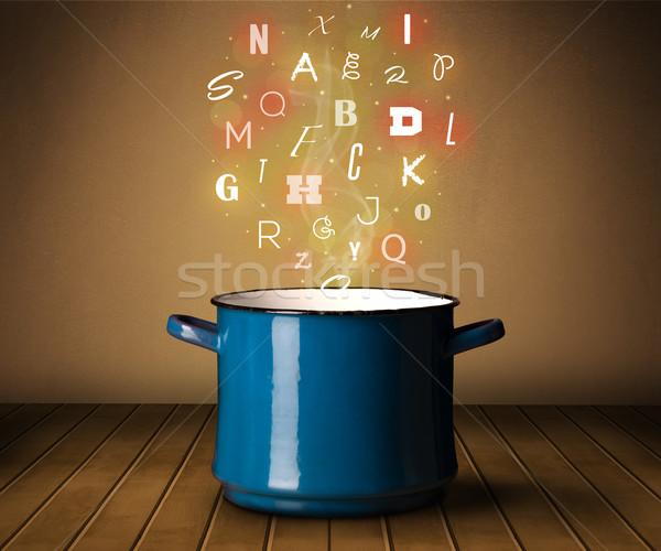 Cartas fora panela colorido metal Foto stock © ra2studio