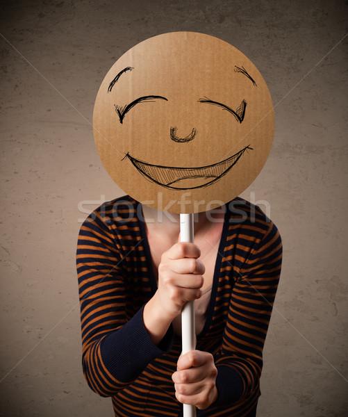 Cara sonriente bordo jóvenes dama Foto stock © ra2studio