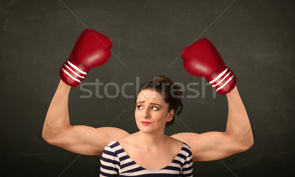 Strong and muscled boxer arms Stock photo © ra2studio