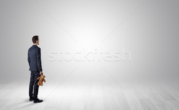 Uomo oggetto mano piedi indietro Foto d'archivio © ra2studio