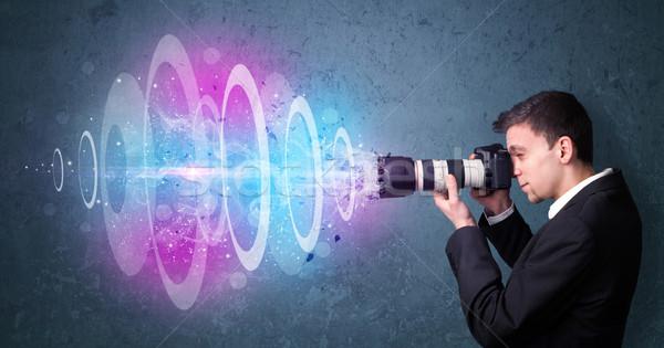 Photographe Photos puissant lumière poutre Photo stock © ra2studio