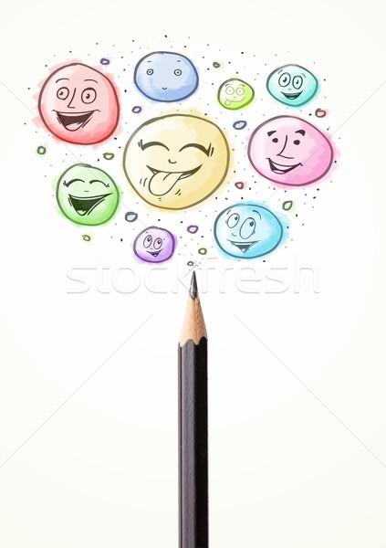 лицах из карандашом пузырьки Сток-фото © ra2studio