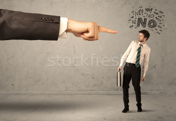 Stock photo: Boss hand guiding beginner salesman