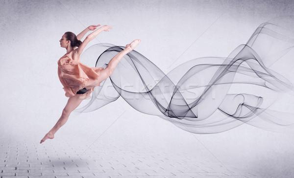 Moderno ballerino di danza classica abstract turbinio moda Foto d'archivio © ra2studio