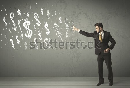 Jeunes gens d'affaires dessinés à la main affaires homme Photo stock © ra2studio