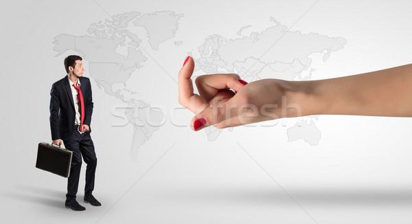Confuso empresário negócio distraído cara homem Foto stock © ra2studio