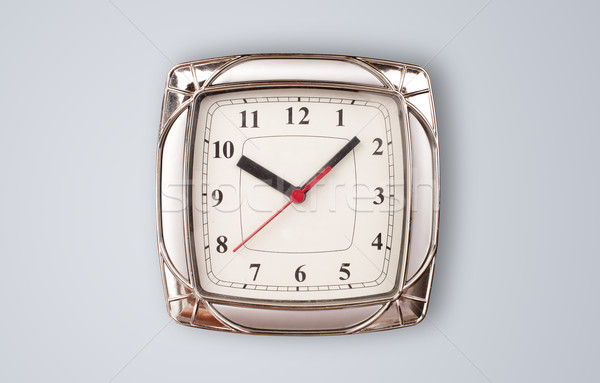Modern clock with hours and minutes Stock photo © ra2studio
